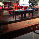 Shuffleboard LED Giant foosball Table rental Moscone San Francisco from Video Amusement