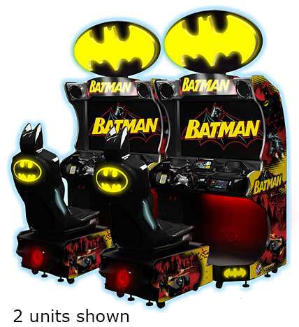 Batman arcade racing and shooting arcade game for rent from Video Amusement