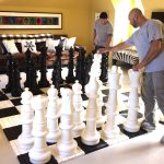 Giant Chess setup for a house party