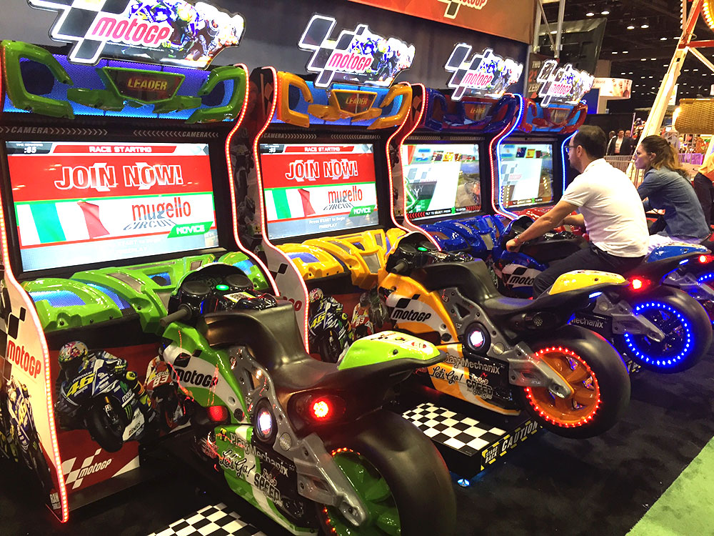 MotoGP Authentic Motorcycle Racing Simulator Arcade Game Rental