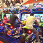 MotoGp Motorcycle Racing Arcade Video Game Trade Show Rental Moscone San Francisco Bay Area Video Amusement