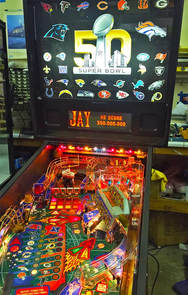 NFL Pinball - Arcade games, Racing simulators, Pinball Game Rental