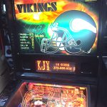 NFL pinball machine with customized branding available from Video Amusement