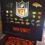 Custom NFL pinball backgalss
