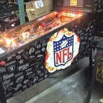 Image of rare limited edition NFL pinball game.