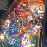 NFL pinball limited edition game playfield detail.