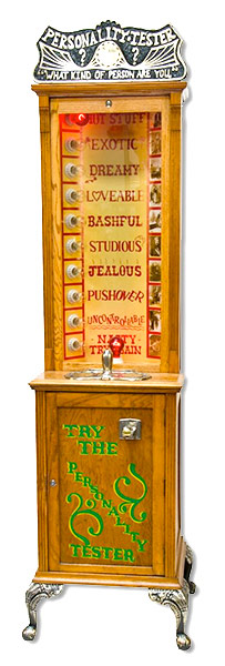 Personality Tester Classic Carnival Machine Game Rental San Francisco from Video Amusement