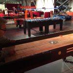 Shuffle board with Jumbo foosball Firestorm Airhocky