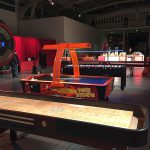 22' and 14' shuffleboard setup with Jumbo Foosball available from Video Amusement