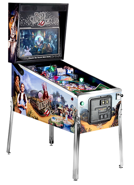 Jersey Jack Wizard of Oz pinball available for rent from Video Amusement