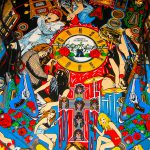 Detailed image of Guns N Roses pinball play field