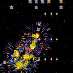 Giant Galaga Assault Arcade game rental screen shoot game play