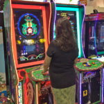 Giant Galaga Assault Arcade game rented to trade show San Jose California From Video Amusement