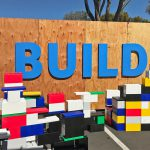 Giant Lego creation at Facebook event