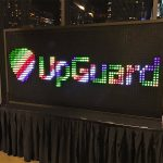 Giant Bright Lights with a welcoming corporate logo
