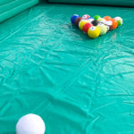 Giant Inflatable Billiards Pool Table setup of corporate rental San Jose Bay Area