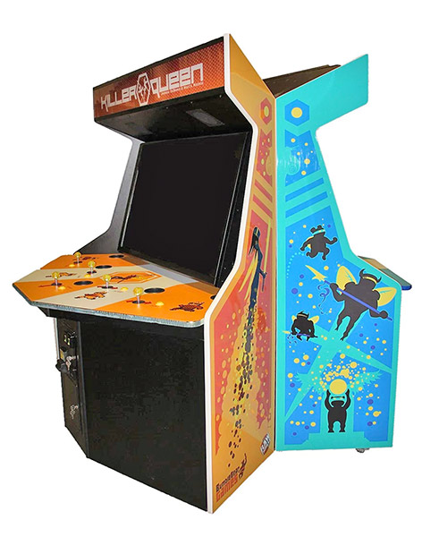 Killer Queen Arcade Game The game comes in two cabinets each with 5 controllers.