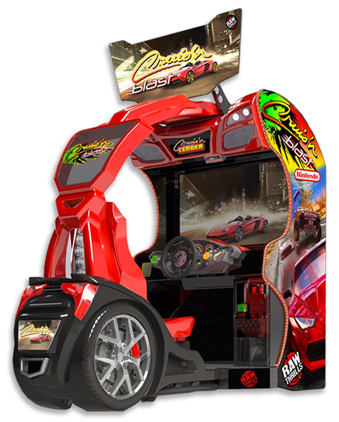 Crusin Blast Racing Video Arcade Game rental San Francisco Bay Area California from Video Amusement