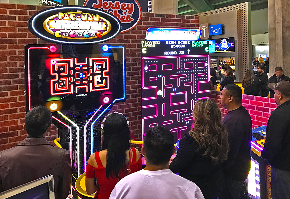 Pac Man Battle Royale and Giant Pan Man at a event