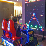 Space Invaders Frenzy Arcade Game rental at Trade Show Anaheim California