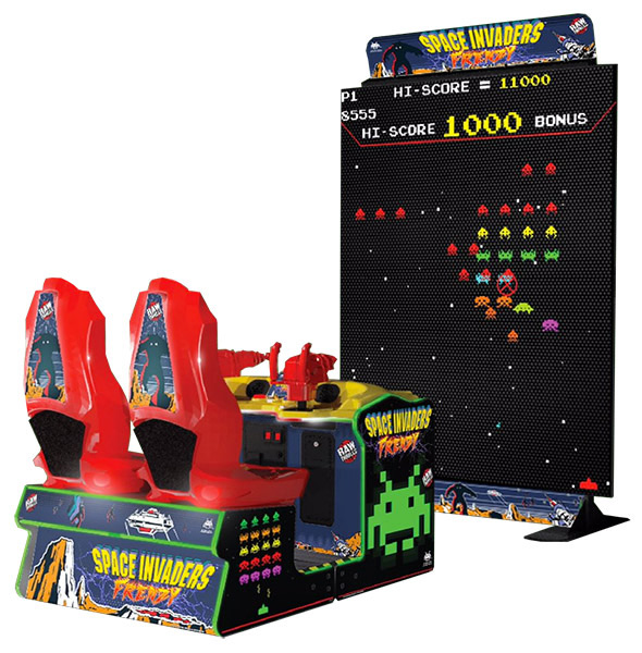 Giant Space Invaders Frenzy a remake of the popular classic arcade game