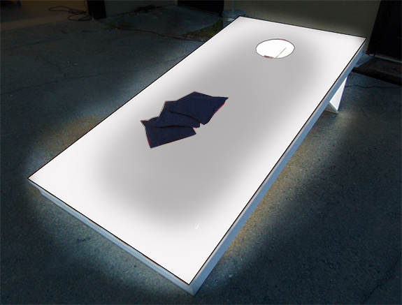 Basic white Giant LED Corn Hole game