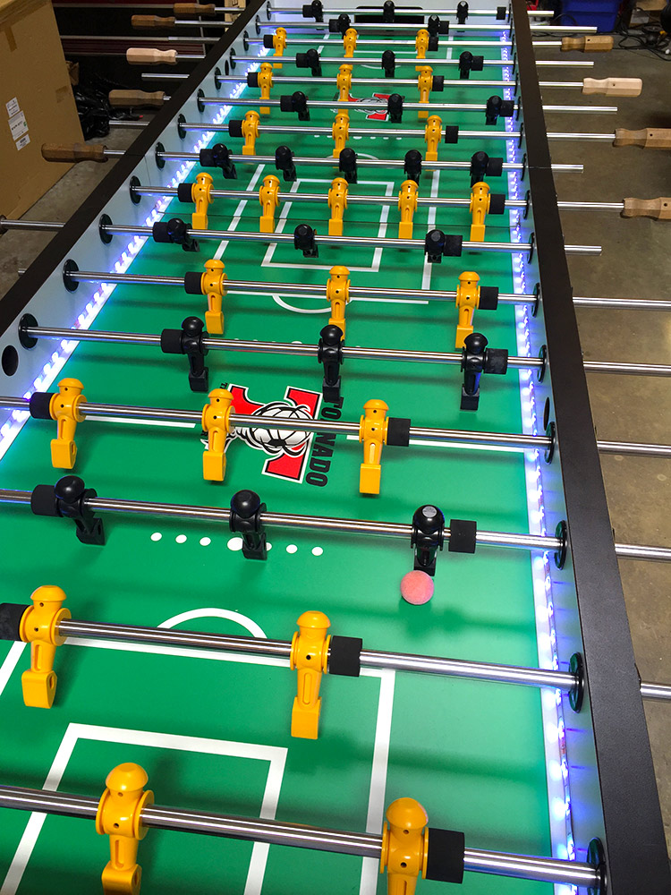 Jumbo LED Lighted Foosball Table - Racing simulators, Pinball Game ...