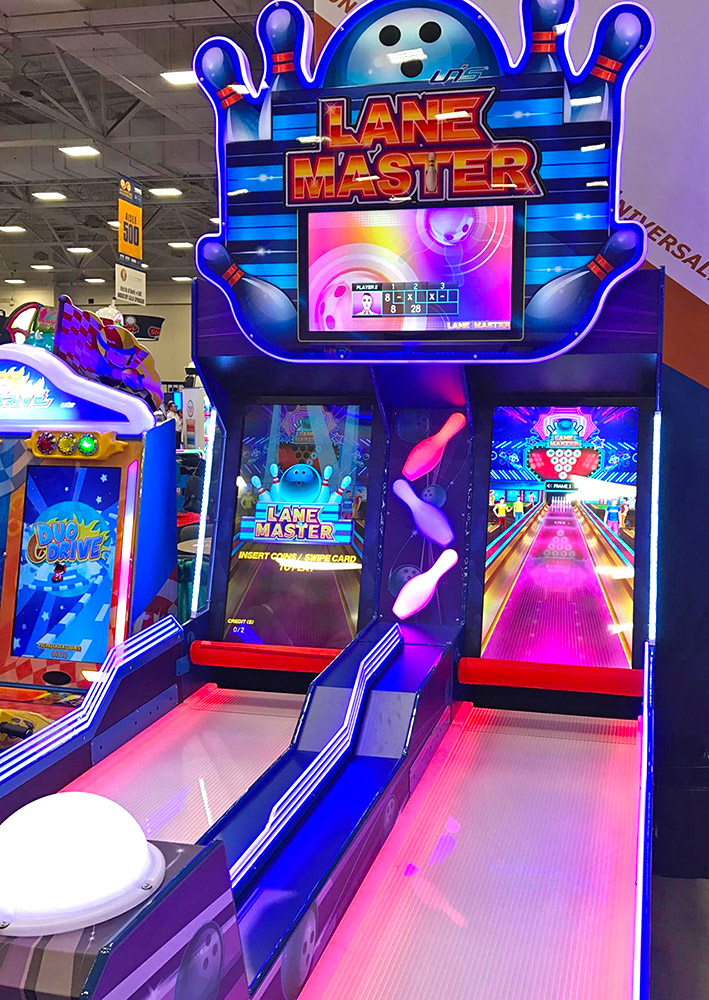 UNIS Games is showing new alley style bowling game.