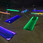 LED 9 Hole Mini golf game set up for rental San Francisco Video Amusement