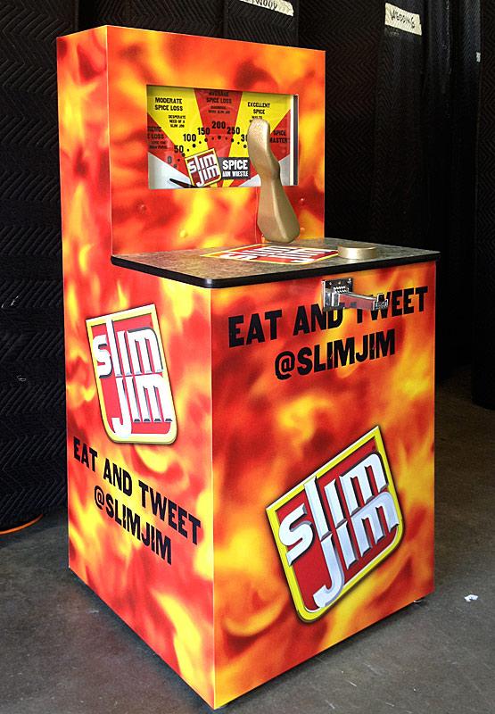 Carnival Midway Wrestler Arcade Game Branded for Slim Jim Rental in San Diego California