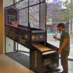 Adidas NBA Hoops Basketball Arcade Game Santa Monica Event Rental from Video Amusement