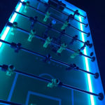 Commercial 4-player LED Tornado Foosball Arcade Game Adjustable Glowing Lights for Rent