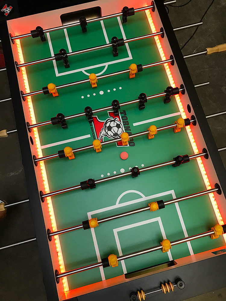 Commercial 4 player LED Valley Tornado Foosball Table Made in USA Rental