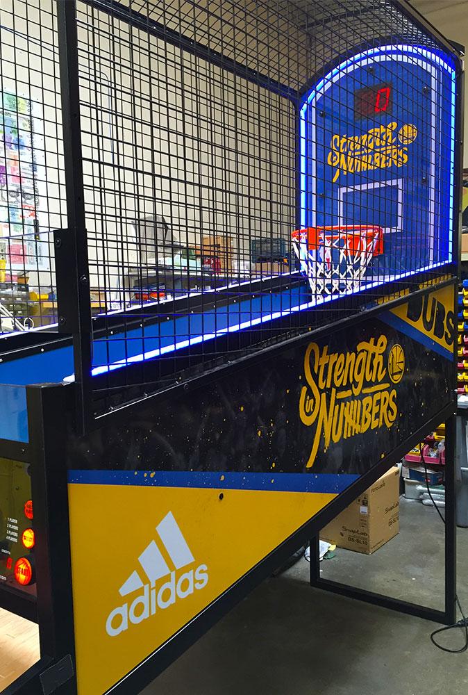 Nba Hoops Led Basketball Arcade Game Video Amusement