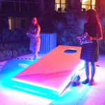 Giant LED corn hole during event Rental San Jose Bay Area