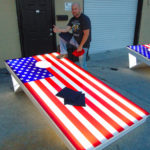 Giant LED corn hole Bean Bag Toss outdoor game from Video Amusement