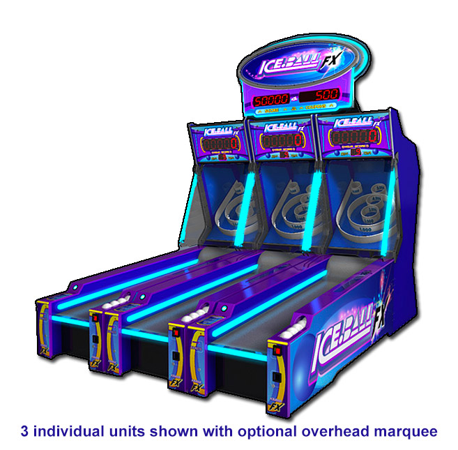 ICE Ball FX LED Skeeball games with electrifying LED lights