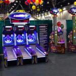 Interactive Ice Ball FX LED skeeball for rent Bay Area California from Video Amusement