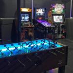 LED Glow Tornado Foosball at Rental event San Francisco Video Amusement