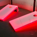 LED Glow cornhole Baggo Game for Rent from Video Amusement