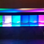 LED Glowing table for Giant Lite Brite Rental from Video Amusement