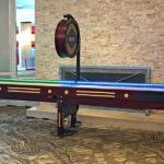 LED Illuminated shuffleboard Arcade Game during rental event