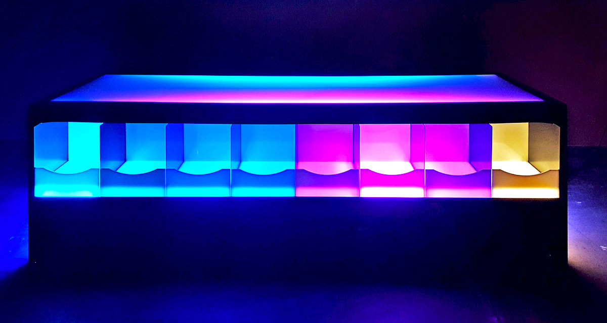 LED Lighted table for rental San Francisco