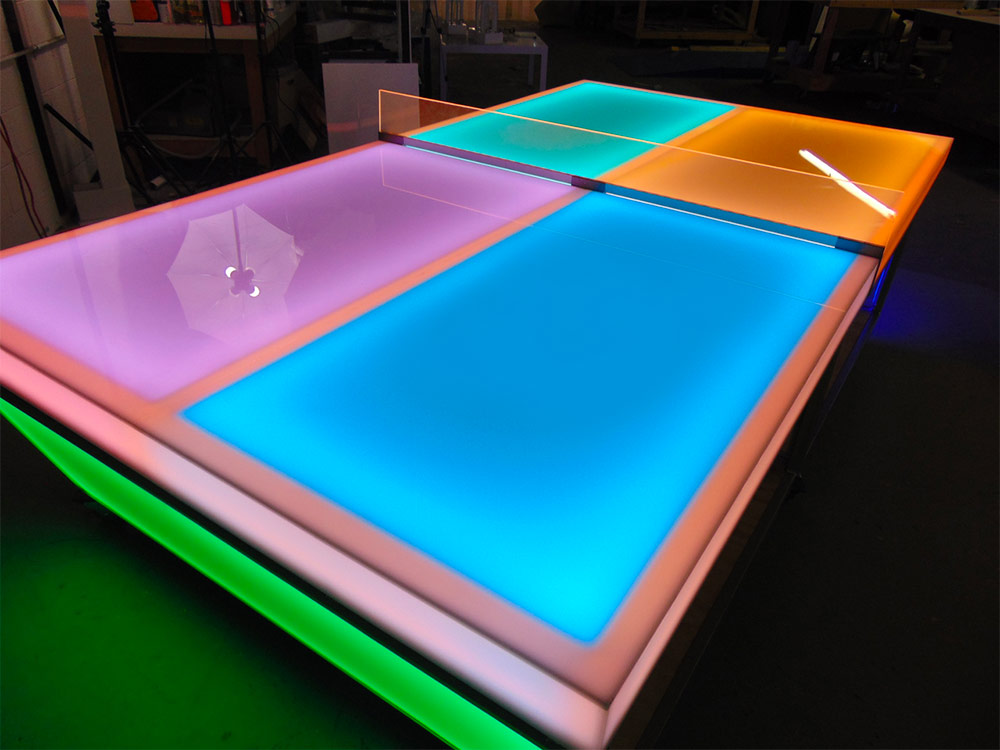 We Are Taking About A Classic Ping Pong Table And Updating It With  Multicolor LED Lights.