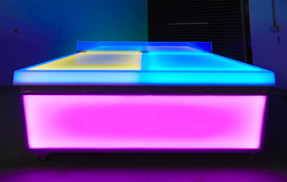 Wonderful We Are Taking About A Classic Ping Pong Table And Updating It With  Multicolor LED Lights.