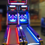 LED Skeeball with overhead sign for rental San Diego