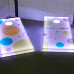 LED corn hole cornhole customized for rental event Moscone San Francisco