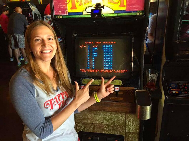 Crushed the high score on Tapper arcade game.