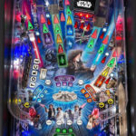 Detailed image of Star Wars pinball playfield