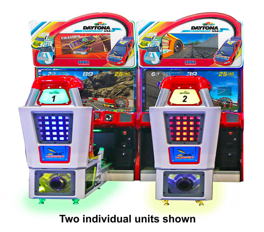 Daytona Championship USA 3 Arcade Game ready to rent available from Video Amusement